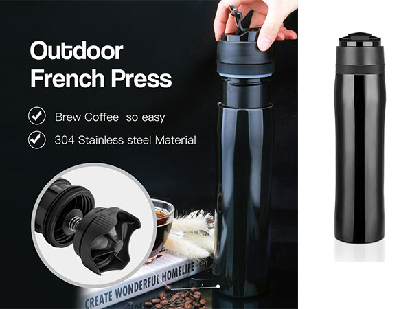 Original French Press Coffee Maker 304 Double Wall Vacuum Flask Bottle