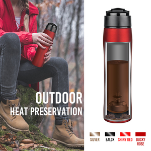 Self-Lock-Funktion Travel Coffee Mug French Press Plunger